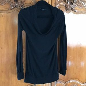French Connection Black Scoop Neck Top